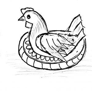 Bé tư duy - Tô màu gà con