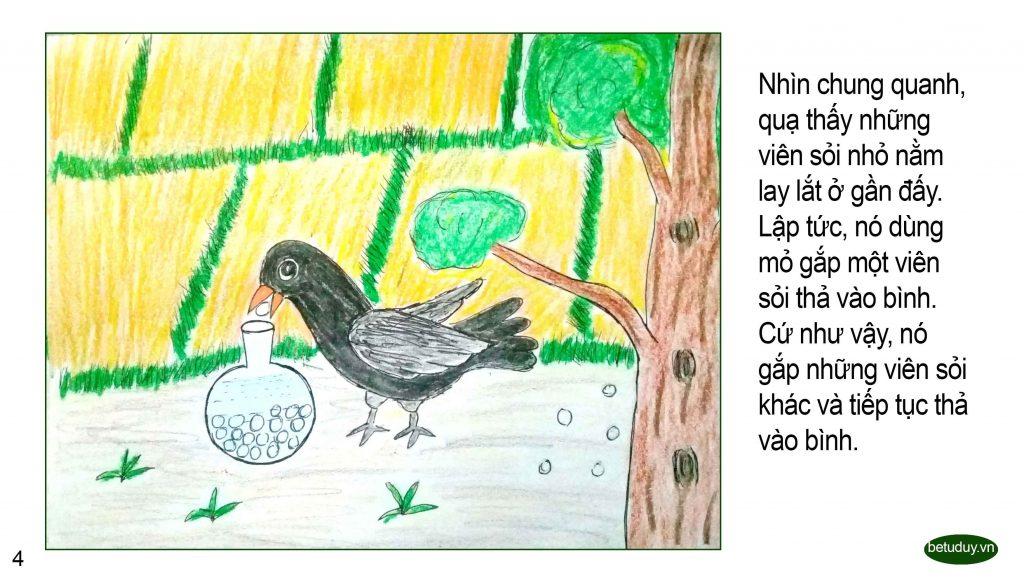 Bé tư duy - Con quạ khát nước 4