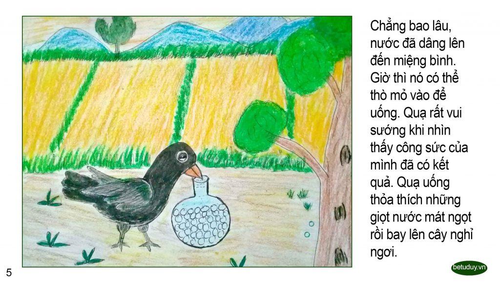 Bé tư duy - Con quạ khát nước 5