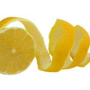 citron of lemon and section isolated on white background