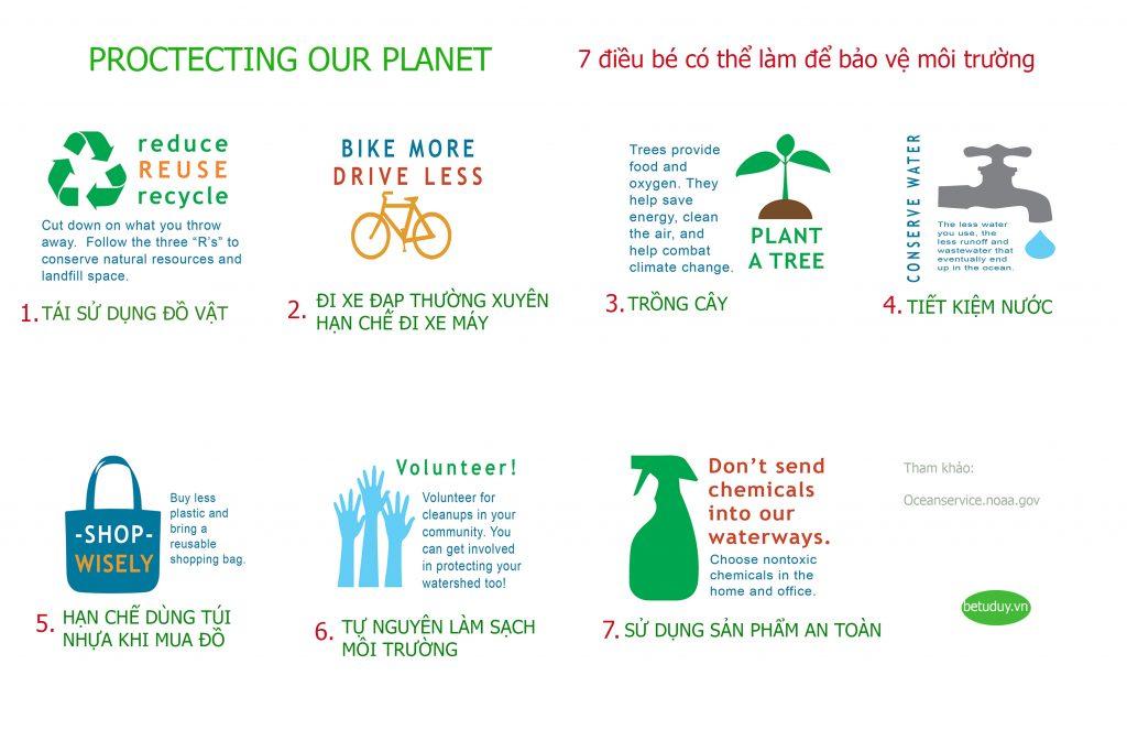 Protecting our planet - Dạy bé bảo vệ môi trường - Bé tư duy