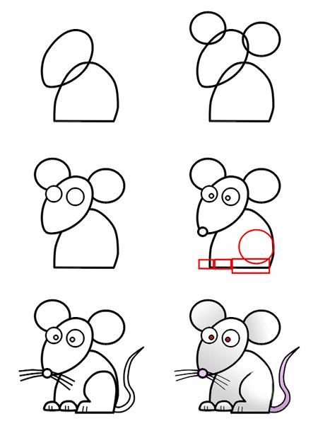 Bé vẽ con chuột 4