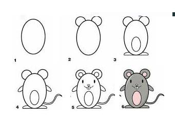 Bé vẽ con chuột 5