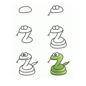 Dạy bé vẽ rắn 1