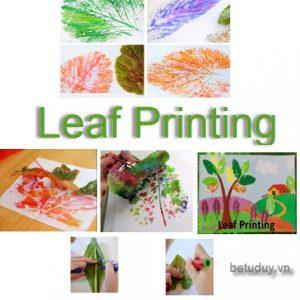 Leaf printing - bé tư duy
