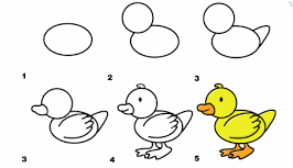 how to draw a duck 2