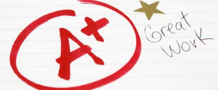 trẻ đạt điểm giỏi ở trường