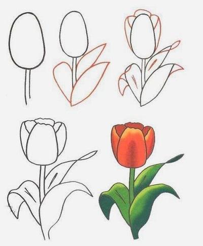 как рисовать цветы 3