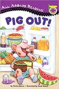All aboard reading: Pig out