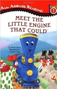 All aboard reading:  The little engine that could helps out