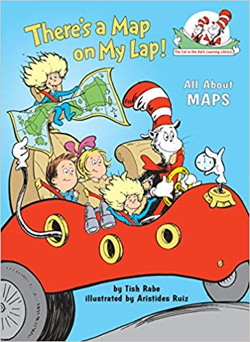 The cat in the hat: There's a map on my lap